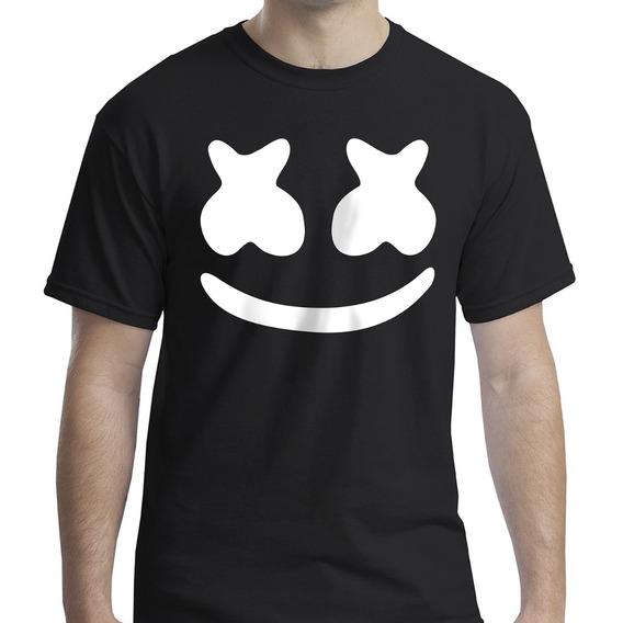 Camiseta Dj Marshmello Masculino Feminino / Algodão Ou Pv