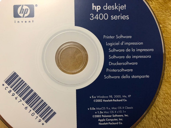 Cd Instalação Hp Deskjet 3400 Series