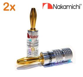 2 Plug Banana Nakamichi Receivers Caixa Acústica - Nova Liga