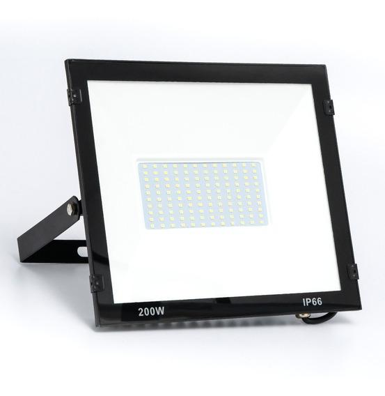 Refletor Holofote Led 200w Smd Branco Frio Bivolt Ip65