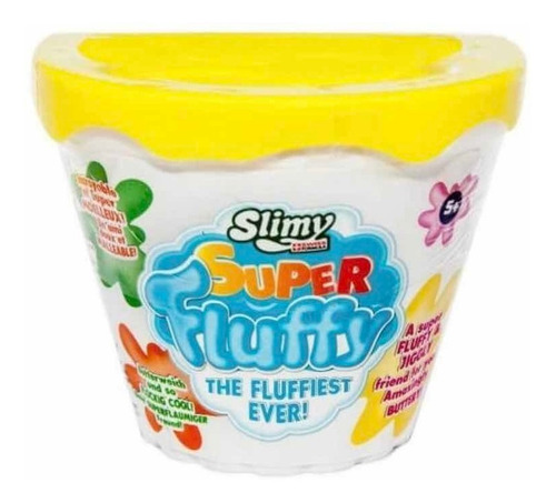 Slime Slimy Súper Fluffy Esponjosa Amarillo