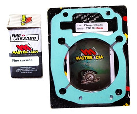 Pino Cursado + Flange 3mm Titan Cg Bros 150 - Master & Cia
