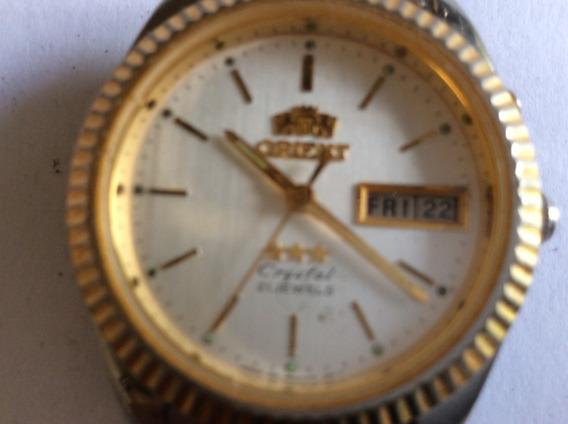 Relógio Orient Automático 33 Mm Unisex Aço E Ouro