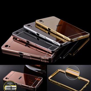 Capa Bumper Case Sony Xperia M4 Aqua Alumínio Com Fundo