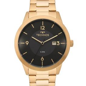 Relógio Technos Masculino Dourado Steel 2115mof/4p - Nf