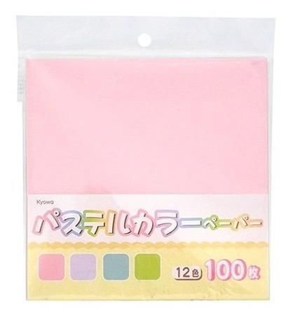 Papel Origami-importado De Japon 15x 15 Cm Lisos Pastel