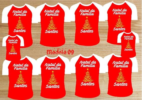 Kit Camisetas Família Camisas Natalina Para O Natal 10peças