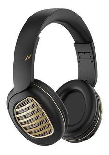 Auriculares inalámbricos Noga NG-A80BT negro y dorado