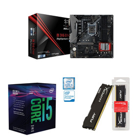 Kit Pc Intel I5 8600k 3.6ghz + Asrock B360m + 8gb 2400mhz