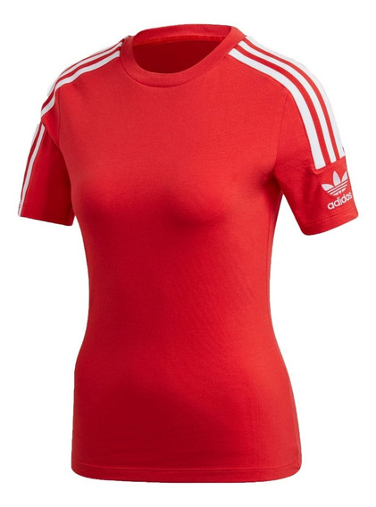 adidas Originals Remera M/c Mujer Lifestyle Tight Rojo