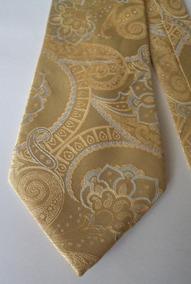 Corbata Color Dorado Estampado Corb267