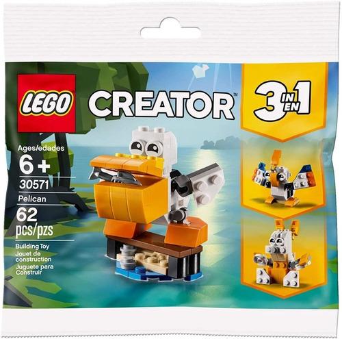 Lego Creator 3 En 1 30571 Pelicano + 2 Animales 62 Piezas