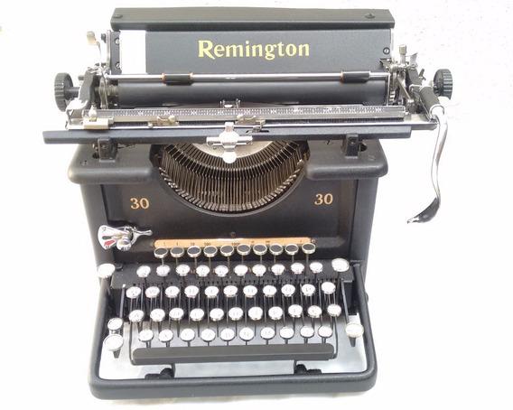 Máquina Escrever Antiga Remington 30 Restaurada Funcionando