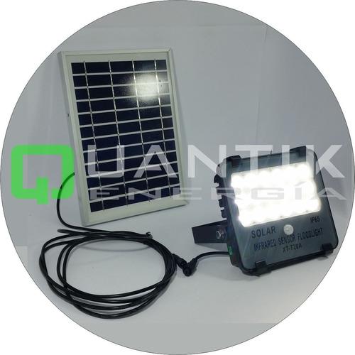 Kit Reflector Led+panel Solar+sensor Movimi+sensor Dia/noche