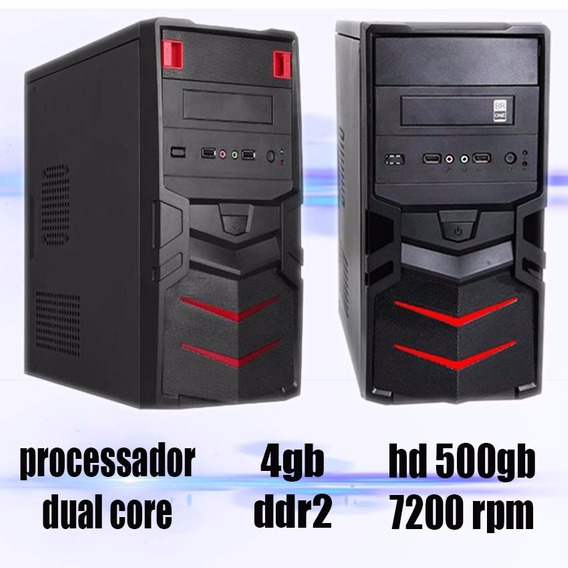 Cpu Gamer Dual Core + 2gb + Hd500gb + Win 7 + Office