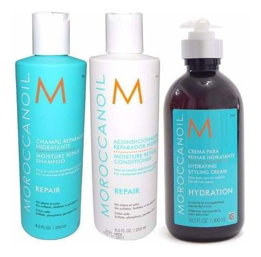 Moroccanoil Kit Repair Shampoo +acon+ Crema Peinar Hydration