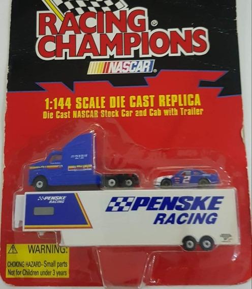 Camion Nascar Con Auto Escala 1:144