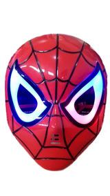 Máscara Homem Aranha Acende Olhos Luz Led Fantasia Infantil