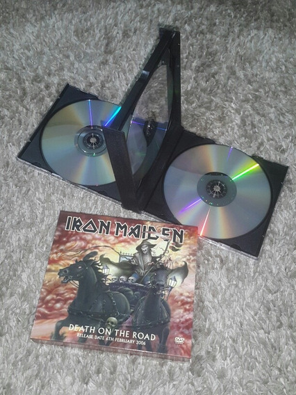 Iron Maiden Death On The Road Dvd Triplo Promo Single Raro