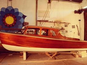 Vendo / Permuto Barco Lancha Clasica Madera Cabinada 1970