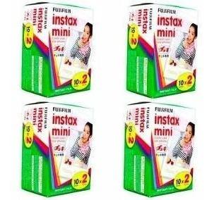 Filme Instax Instantâneo Mini 7 & 8 (4 Unidade 80 Fotos)