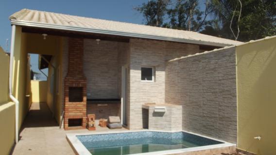 758- Casa Á Venda 125m² Com Piscina E Churrasqueira