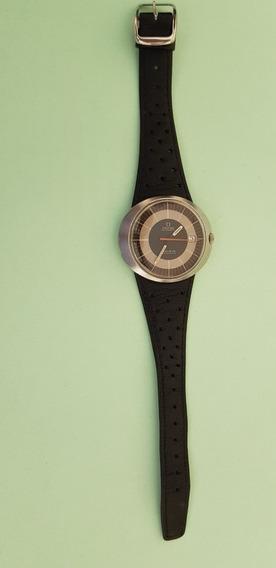 Relógio Omega Dynamic Com Pulseira De Couro Original