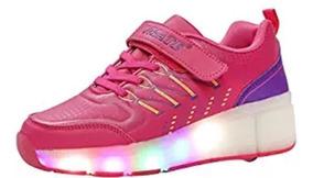 Zapatos Vmate Ruedas Rosa T29 Con Luces 5R4Lq3Aj