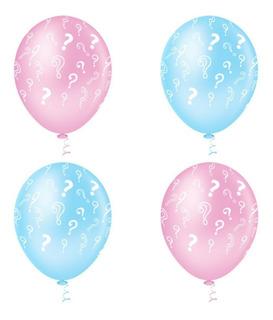Balão - Bexiga Chá De Revelação Azul E Rosa - 25 Unidades