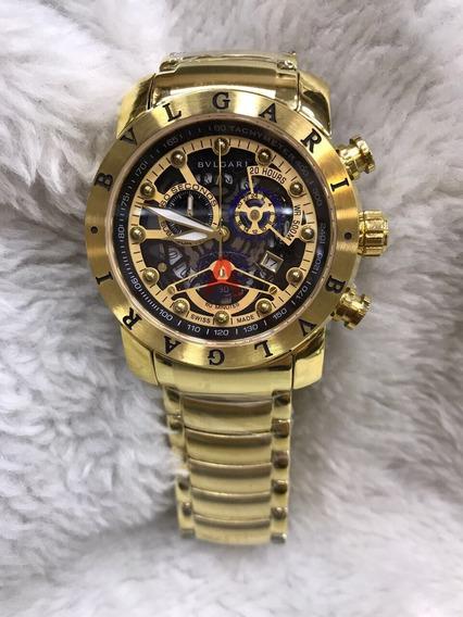 Relógio Bvlgari Na Cor Dourado Ouro Frete Grátis