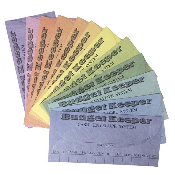 Set 12 Sistema De Sobres En Efectivo Ahorrar Dinero 12colore