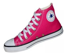 Tênis All Star Cano Alto Rosa Chiclete