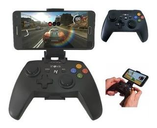 Controle Alça De Jogo Inova Sem Fio Bluetooth Android/ios/pc