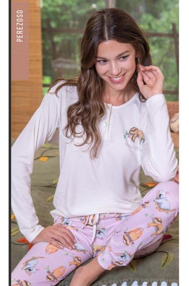 Pijama Bianca Secret 20603 -estampa Perezosos Talles Grandes