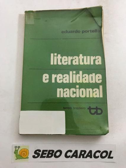 Livro Literatura E Realidade Nacional Eduardo Portella