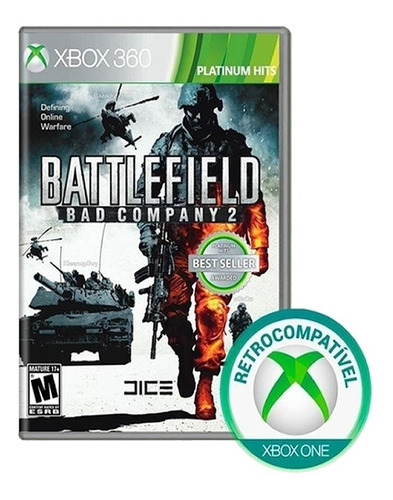 Battlefield: Bad Company 2 - Jogo De Xbox 360 - Mídia Física