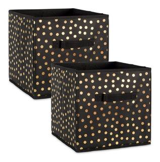 Cajon Caja Almacenamiento Plegable Recamara Dii Gold Dots, 2