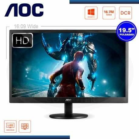 Monitor Aoc Led 19.5 Modelo E2070swhn Hdmi