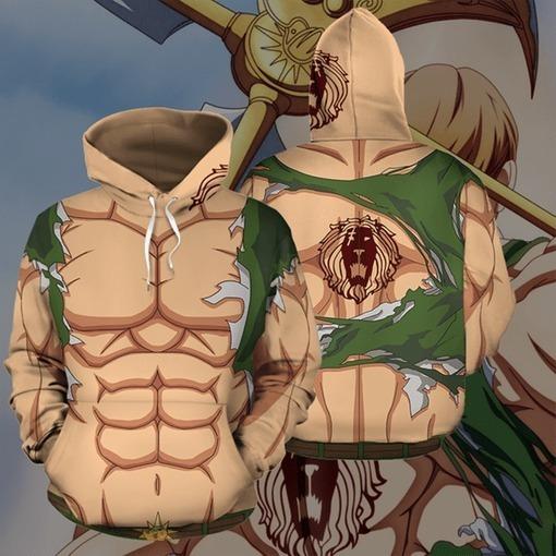 Sudadera Hoddie Fullprint Escanor Anime 7 Pecados Capitales