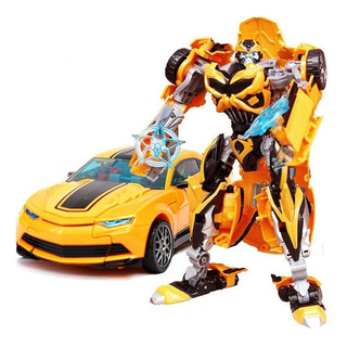 Boneco Novo Bumblebee Alloy Transformers Vira Carro E Robô !