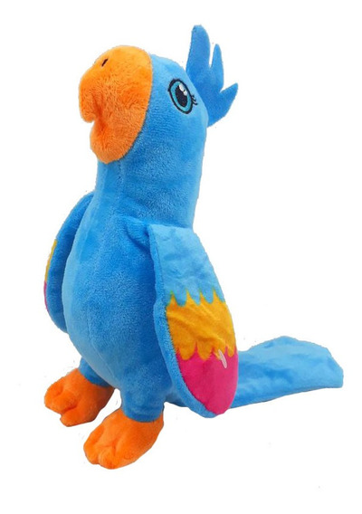 Arara Azul Pelúcia 23 Cm Antialérgico Lavável Papagaio
