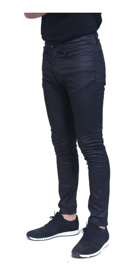 Pantalon Jean Odin Coated Black Hombre | Ona Saez (oi95402)
