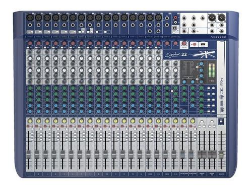 Imagen 1 de 8 de Mixer Soundcraft Signature 22 Mtk Consola Usb Efecto Cuotas