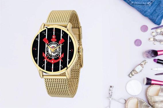 Relógio De Pulso Personalizado Feminino S.c Corinthians Fiel