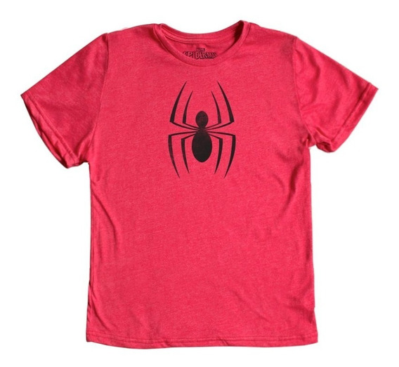 Playera Mascara De Latex Spider-man Logo Niño