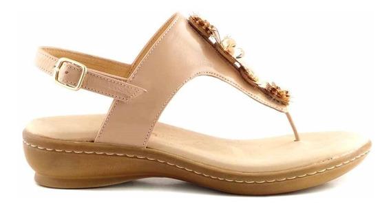 Sandalia Ojota Mujer Cuero Briganti Verano Zapato Mcoj03770