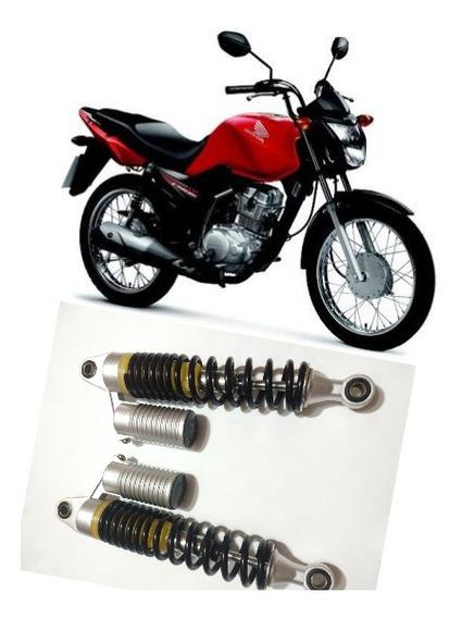 Amortecedor Gás Prata 32cm Entre Furo Motos Honda Descrição
