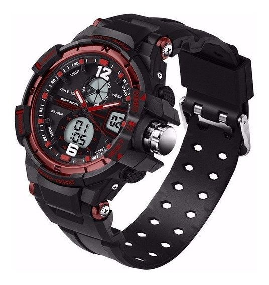 Relógio Masculino Esportivo Digital E Analógico Ajustável !