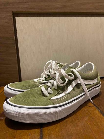 Vans Old Skool Verde - 43,5 Original Exclusivo
