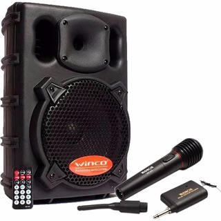 Bafle Parlante Dj Winco 300w + Microfono Inalambrico Karaoke
